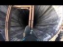 Climbing huge chimney in Pitesti