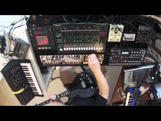 Psychedelic jam session KORG ms 20 TR 8 analog four line6 volca BURG The saucer people