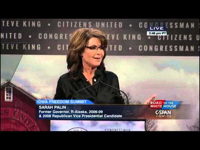 Sarah Palin in Iowa: