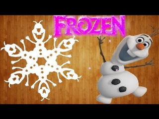 Как сделать снежинку фрозен своими руками / How to make a snowflake from the cartoon Frozen