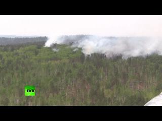 Площадь лесных пожаров в Сибири увеличилась за выходные в три раза