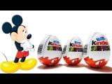 3 шоколадных яйца Киндер Микки Маус / 3 KINDER SUPRRISE EGGS - MICKEY MOUSE