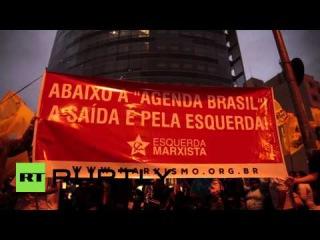 Бразилия: Про-Руссефф демо привлекает десятки тысяч в Сан-Паулу.