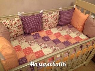 Подушки бортики для детской кроватки своими руками фото