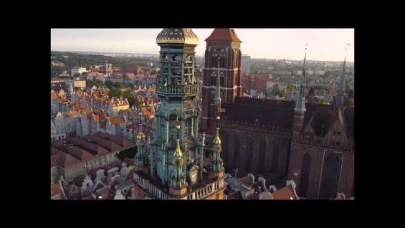 Gdańsk z lotu ptaka 4K / Gdansk from above 4K Poland