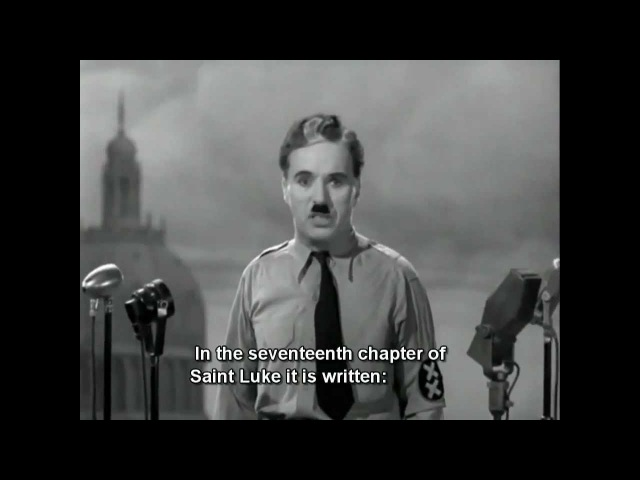 The Great Dictator speech by Charlie Chaplin English Subtitles