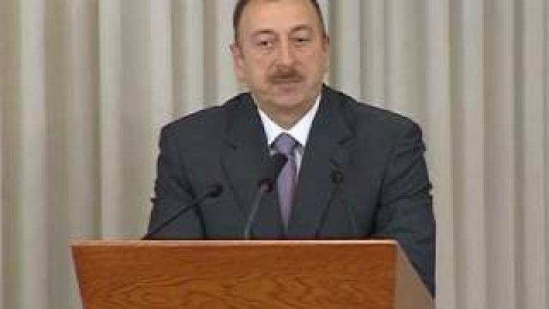 İlham Əliyevin Milli Olimpiya Komitəsində təqdim edilmə mərasimdə iştirakı 27 12 2010