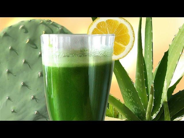 Cactus Aloe Smoothie, the SUPER Longevity drink w Aloe Vera Prickly Pear Nopales