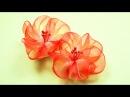 Воздушные ЦВЕТЫ из Лент. Мастер-класс / Ribbon Flowers Tutorial / ✿ NataliDoma