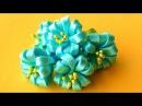 Цветочки КАНЗАШИ без Клея и Иголки! Мастер-класс / Kanzashi Flowers Tutorial / ✿ NataliDoma