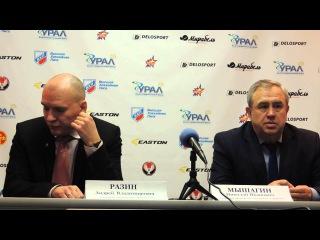 """Пресс-конференция ХК """"Ижсталь"""" - ХК """"Казцинк-Торпедо"""" 1/8 плей-офф 26.02.2015"""