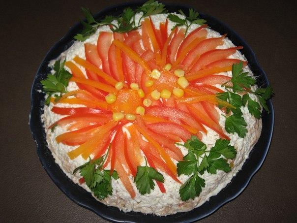 Как украсить болгарским перцем салат
