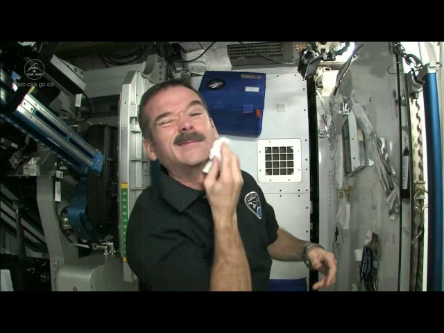 Chris Hadfield on How Astronauts Shave in Space