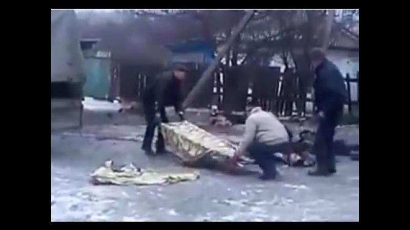 ENG SUBS 18 Horlivka, Poroshenkos aftermath Feb 2ndРезультаты обстрела Горловка, Комсомолец