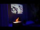 Песочная анимация в Драмтеатре. SANDSTROM.BY
