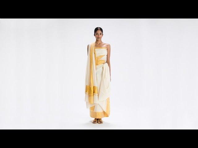 How To Drape a Sari No 50 Adivasi Drape Kerala India