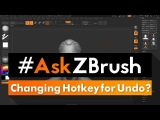 #AskZBrush I'm left handed is there a way I can assign Undo to a hotkey other then CTRL+Z