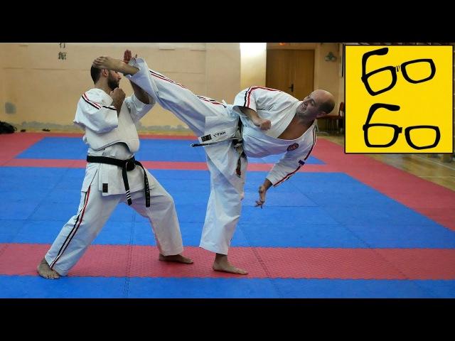 Косики каратэ с Олегом Эстоном полноконтактное жесткое каратэ близкое к уличному бою