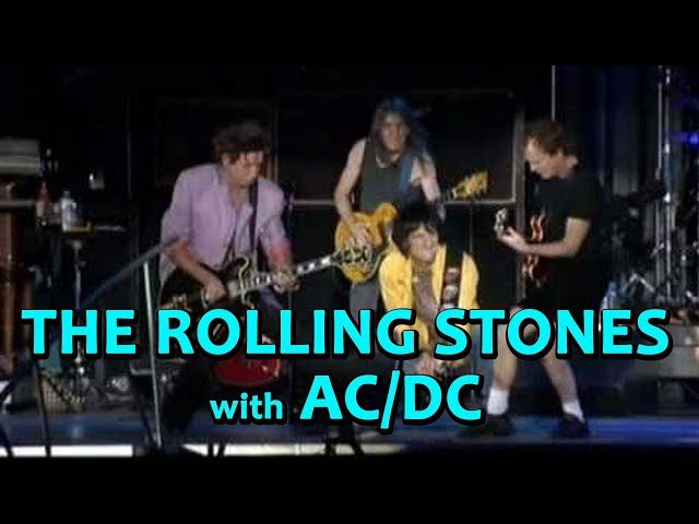 The ROLLING STONES with Special Guests AC/DC's ANGUS MALCOLM YOUNG