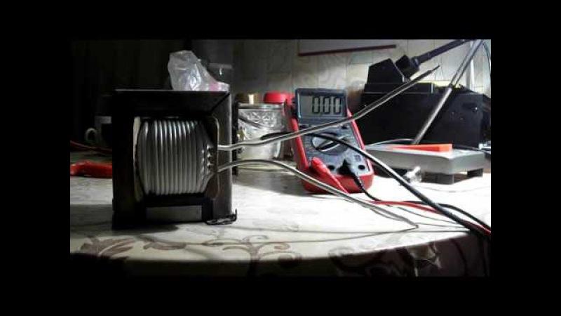 Наматываем вторичную обмотку трансформатора для зарядного устройства