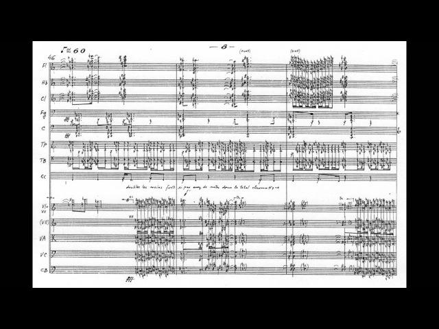 Iannis Xenakis Ata w score for orchestra 1987