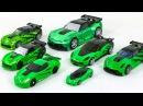 Трансформеры Суперкары Спорткары Зеленые Игрушки Машинки Роботы Видео для Детей
