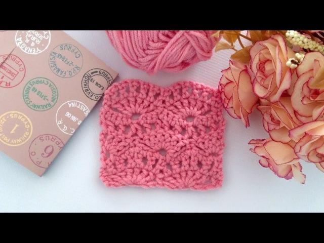 ♥ Вяжем узор Ракушки крючком ♥ Собираюсь вязать шаль ☺ ♥ Crochet pattern ♥ Crochetka design DIY