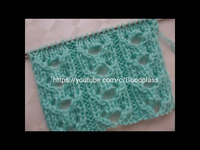 Ажурный узор Дорожки. Вязание спицами. Knitting(Hobby).