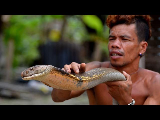 ►99% Люди в Ужасе бежали бы из Этого Места Бесстрашный Чувак выбирает Кобру как Рыбу на Рынке
