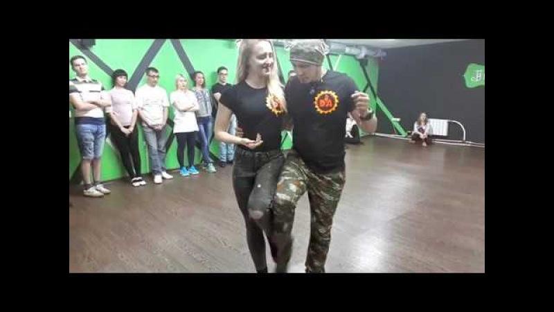 Юрий Гаврилов и Дарья - Кизомба - Новосибирск | Yuri Daria - KIZOMBA DEMO - Lady In Red (DA TEAM)