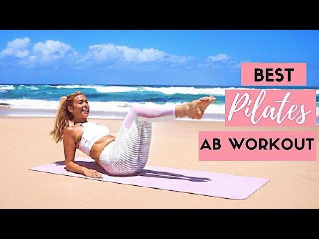 15 Minute Mat Pilates Ab Workout for a Flat Tummy   Beginner Pilates👙💖