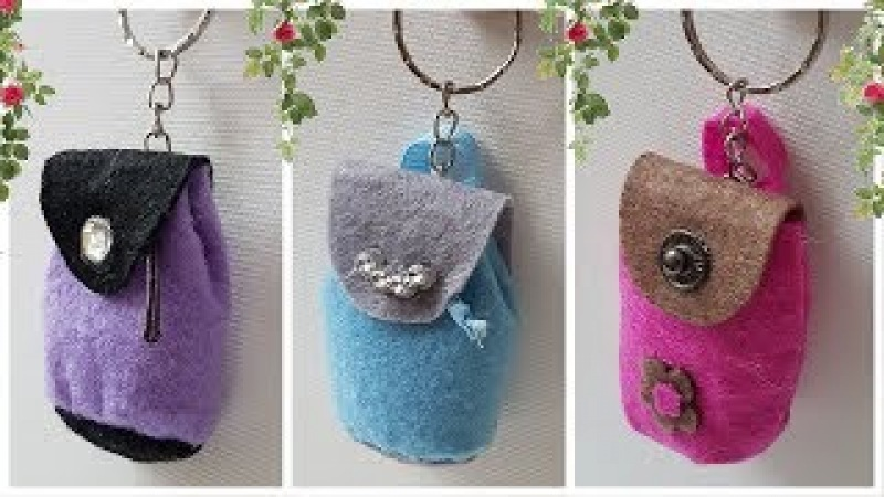 2 Ways to do Backpack Trinket Tutorial: For Keys and to Gift | 2 легких способа сделать брелок-сумку