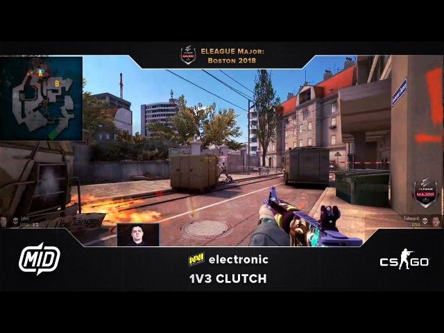 ELEAGUE Major | Liquid vs. NaVi | electronic 1v3 clutch