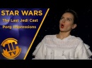 The cast of Star Wars The Last Jedi does their best Porg impressions