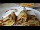 Блинчики с сыром и зеленью. Цыганка готовит. Блины сырные на масленицу. Gipsy cuisine.