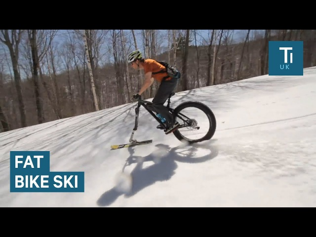 This ski attachment lets you ride your bike in snow