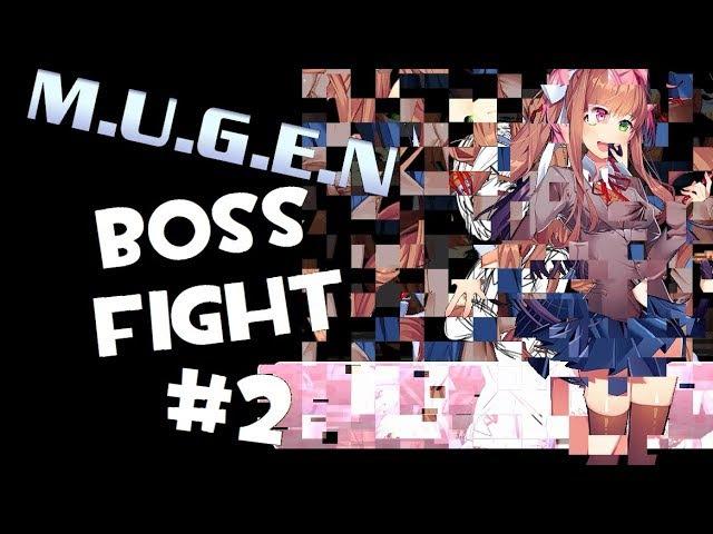 M.U.G.E.N. DDLC: Monika Boss Fight | Taking Damage Phase 2