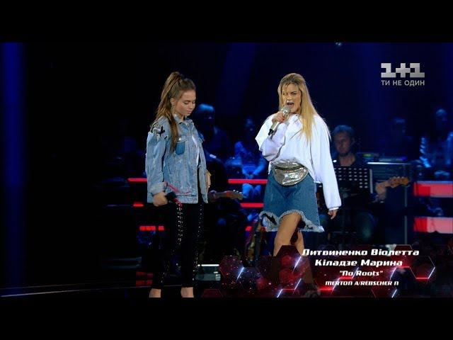 Виолетта Литвиненко vs Марина Киладзе No Roots бои Голос страны 8 сезон