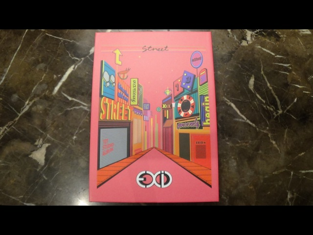 Unboxing EXID 이엑스아이디 1st Korean Studio Album Street