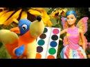 Барби УЧИМ ЦВЕТА Barbie Фея Мультик с игрушками Даша Путешественница для малышей И ...