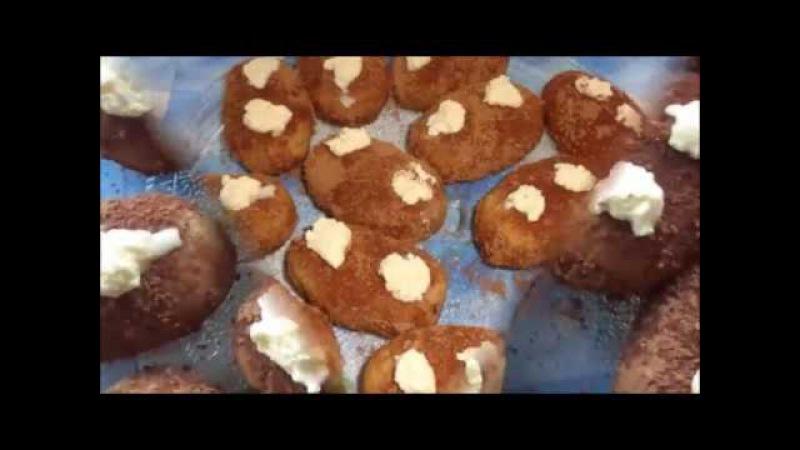 Вкусное Пирожное Картошкаиз сухарей.Пошаговый видео рецепт.Delicious Cake Potato
