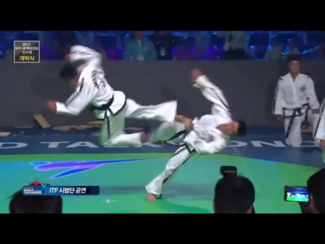 VERY BEST ITF Taekwondo Demonstration - Muju 2017