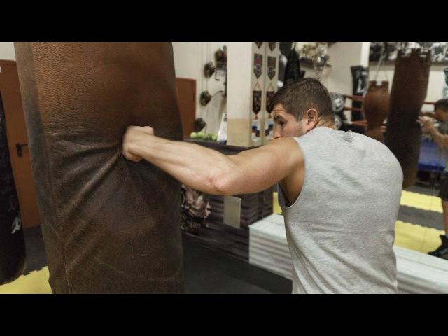 Как поставить боковой удар рукой / Боковые удары в боксе