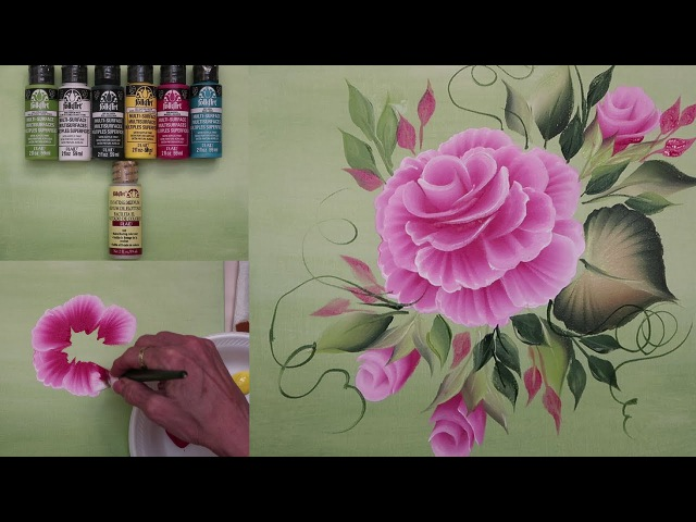 How to Paint a Cabbage Rose! (OFFICIAL VIDEO)