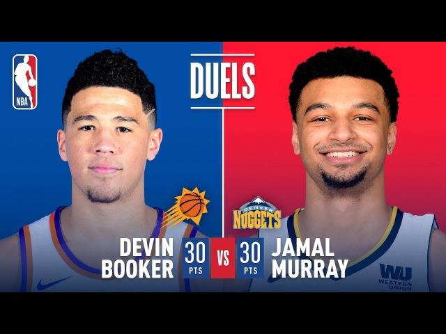 Devin Booker Jamal Murray Duel It Out In Denver