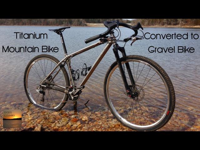 Motobecane titanium hardtail converted to gravel bike with Soma Gator bars and Bruce Gordon tires