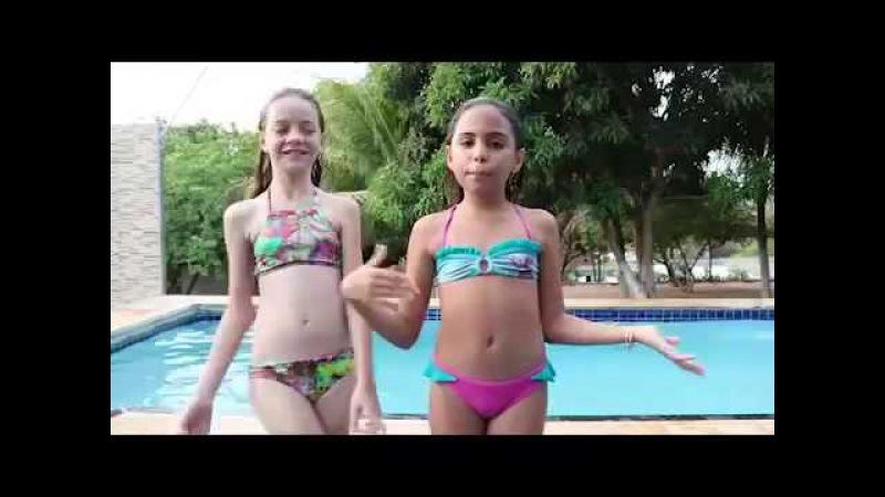 Desafio da Piscina(COMPETIÇÃO DE PULOSPARTE 2com Sophia Lima e Mikaella LimaSe divertindo com você