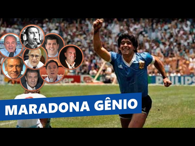 MARADONA 86 - oito NARRAÇÕES do GOL MAIS BONITO das Copas