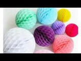 make honeycomb ball out of kite paper with proper guidelines in hindi