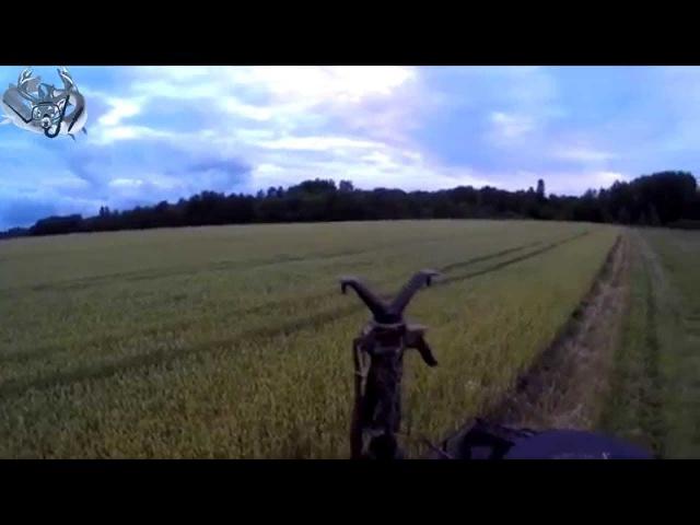 Охота 37 засидка на машине в поле